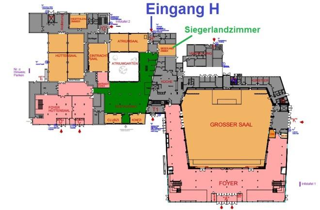 Hallenplan der Siegerlandhalle