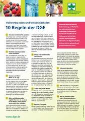 Die 10 Ernährungs-Regeln der DGE