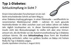 Impfung gegen Diabetes