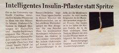 Insulin-Pflaster in Arbeit